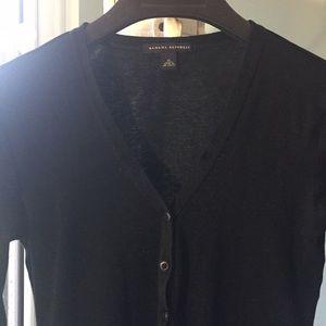 Black cardigan medium cotton